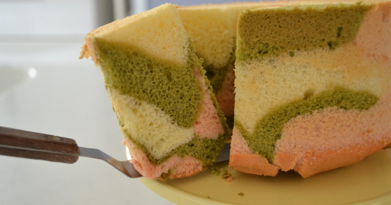 TRI COLOR CHIFFON CAKE for The Japanese Girl's festival | KPB's No fail mixing method (EP268)